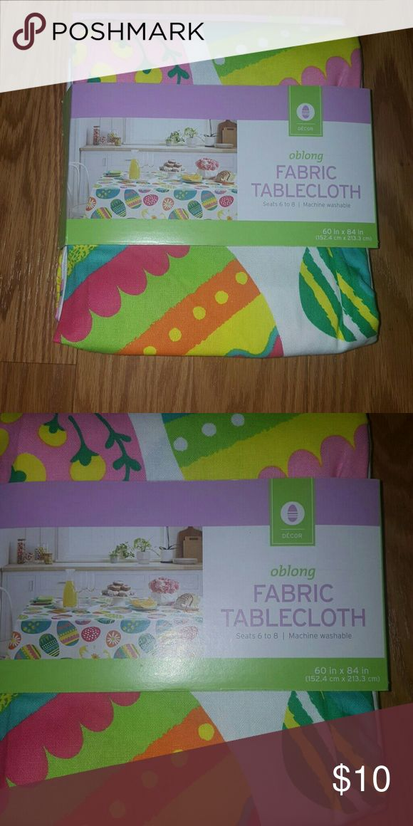 """Table cloth oblong . Oblong tablecloth perfect for easter time 60""""x 84"""" decor Other"""