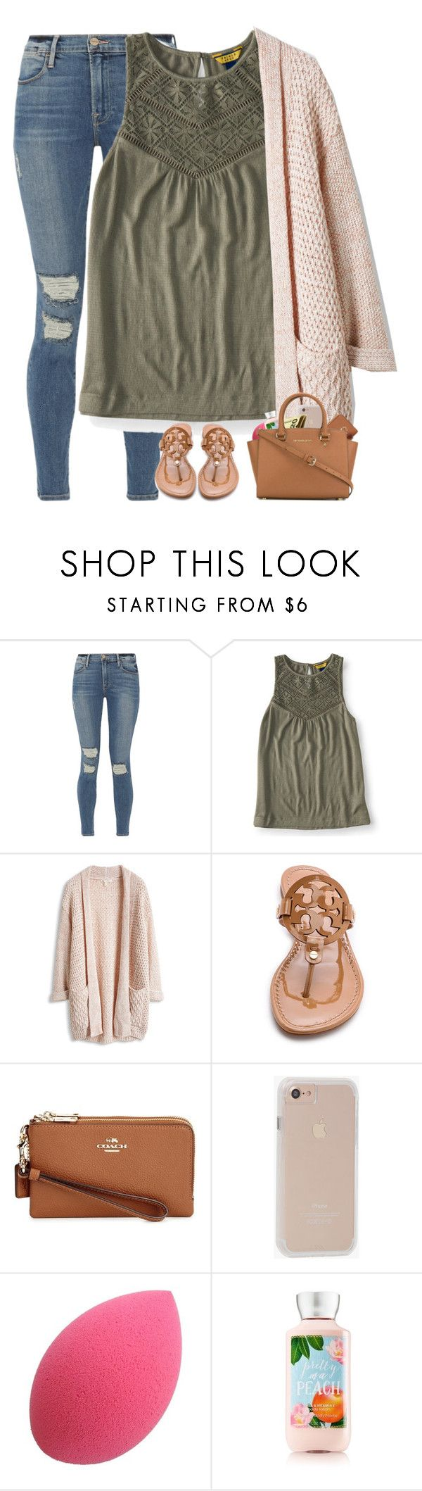"""Tennis starts Wednesday "" by haleyfrancis ❤ liked on Polyvore featuring Frame, Aéropostale, Tory Burch, Coach, Case-Mate and MICHAEL Michael Kors"