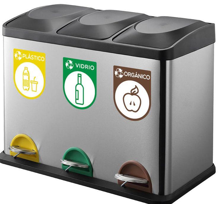 Pegatinas reciclaje contenedores - TenVinilo