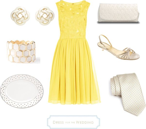Dress for a Daytime Wedding – Yellow & White