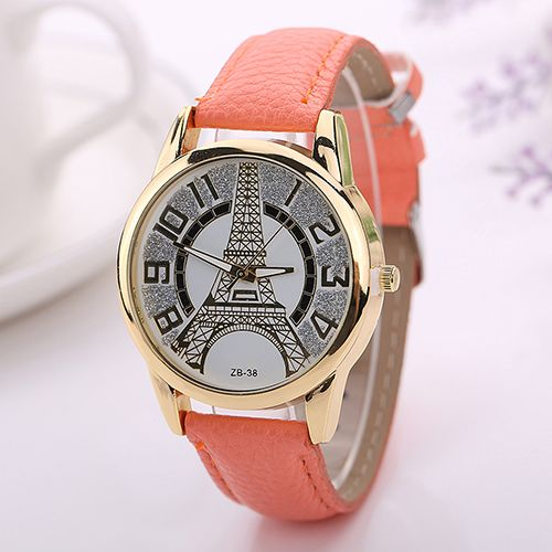 2015 New Hot Men Women Casual Vintage Faux Leather Band Quartz Analog Eiffel Tower Wrist Watch 6T3Y-in Fashion Watches from Watches on Aliexpress.com | Alibaba Group