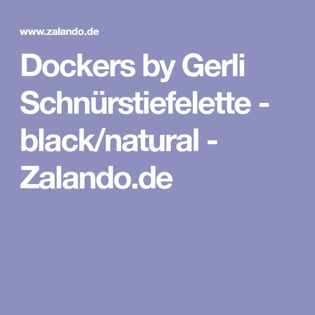 Dockers by Gerli Schnürstiefelette - black/natural - Zalando.de