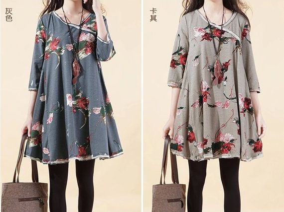 Hey, I found this really awesome Etsy listing at https://www.etsy.com/listing/185736324/100-cotton-vintage-floral-shirt-dress