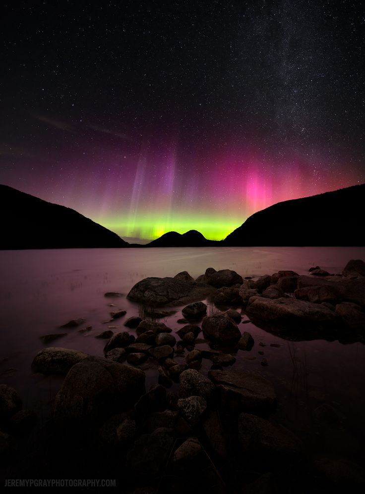 Aurora Over Maine... See Explanation.  Clicking on the picture will download  the highest resolution version available.