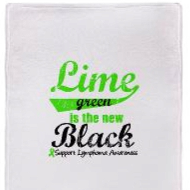 Lime green is the new black (Lymphoma awareness) @ www.cafepress.com