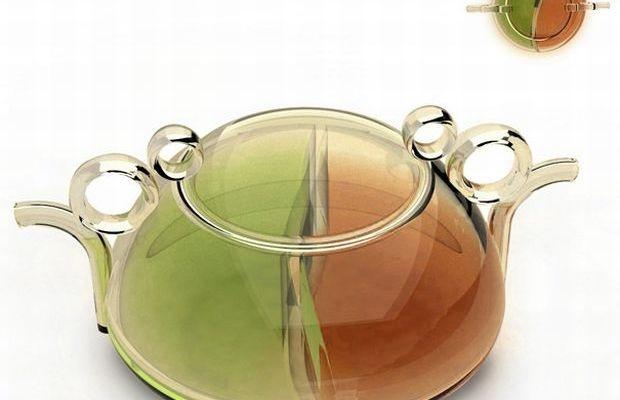 Yin and Yang tea pot