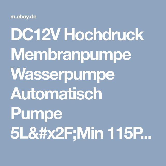 DC12V Hochdruck Membranpumpe Wasserpumpe Automatisch Pumpe 5L/Min 115PSI 60W ALI    eBay