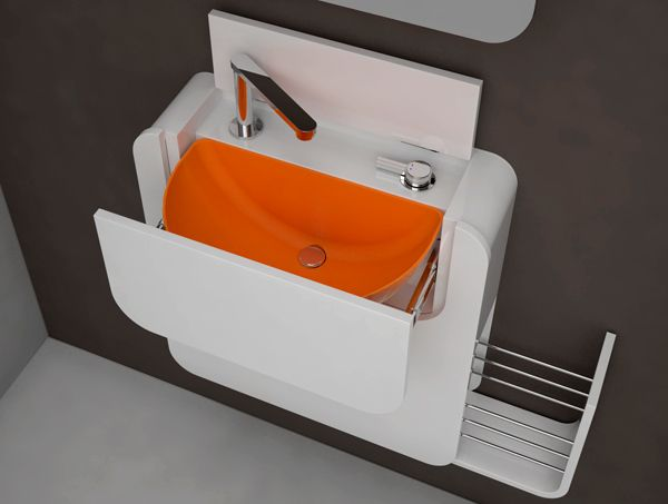PIXEL   Foldable Silicone Wash Basin For Small Places, Folds Internally As  A Compact Element Of 16 Cm Wide. Designers Oriol Barri And Rafa Arnalte  Porcar Of ...