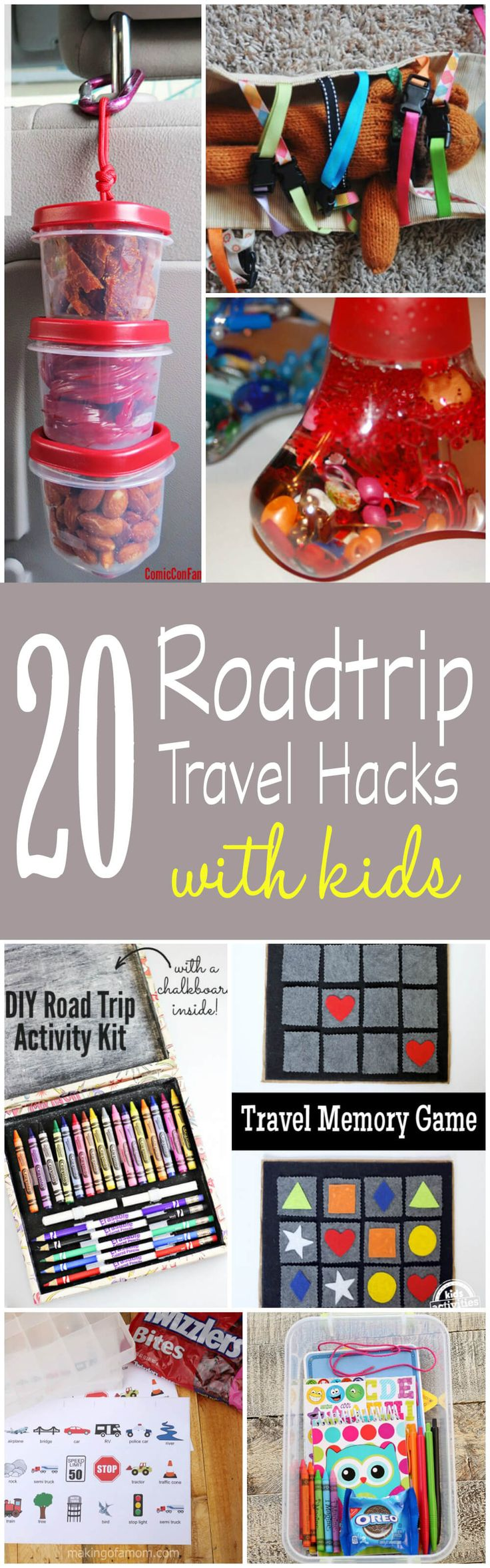 20 Travel Hacks for Roadtrips with Kids! If you are planning a family vacation, these travel tips and idea