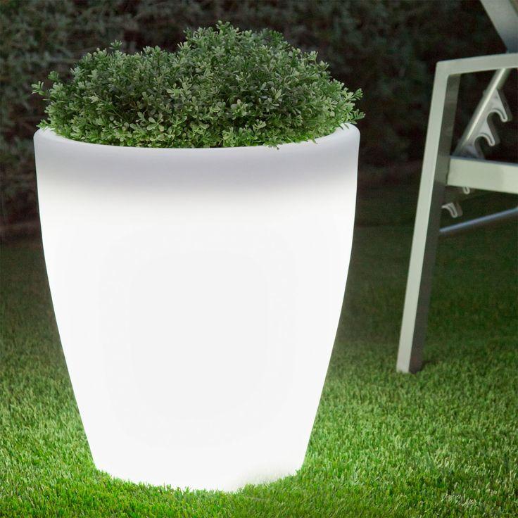 M s de 25 ideas incre bles sobre macetas con luz en for Jardineras iluminadas