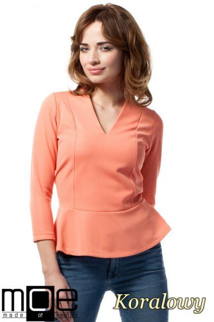 Bluzka baskinka z rękawem 3/4 marki MOE.  #cudmoda #moda #ubrania #odzież #clothes #bluse #blouse #kleidung #bluzki