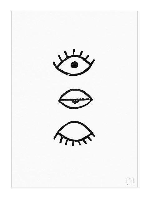 Fine Little Day Eye Eye Poster (50x70cm)