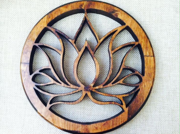 Unique Blossoming Lotus Flower Design within a circle. The lotus flower has long been valued by Buddhists and viewed as a sacred flower by Hindus a...