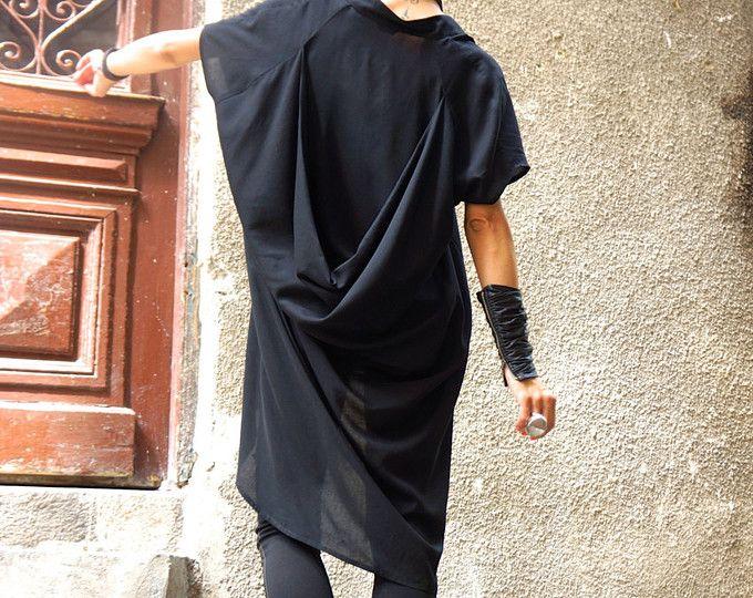 NIEUWE collectie olijfgroen lange linnen Shirt / extravagante