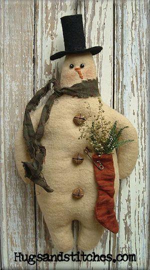 Mr. Winter Snowman Ornament e-Pattern