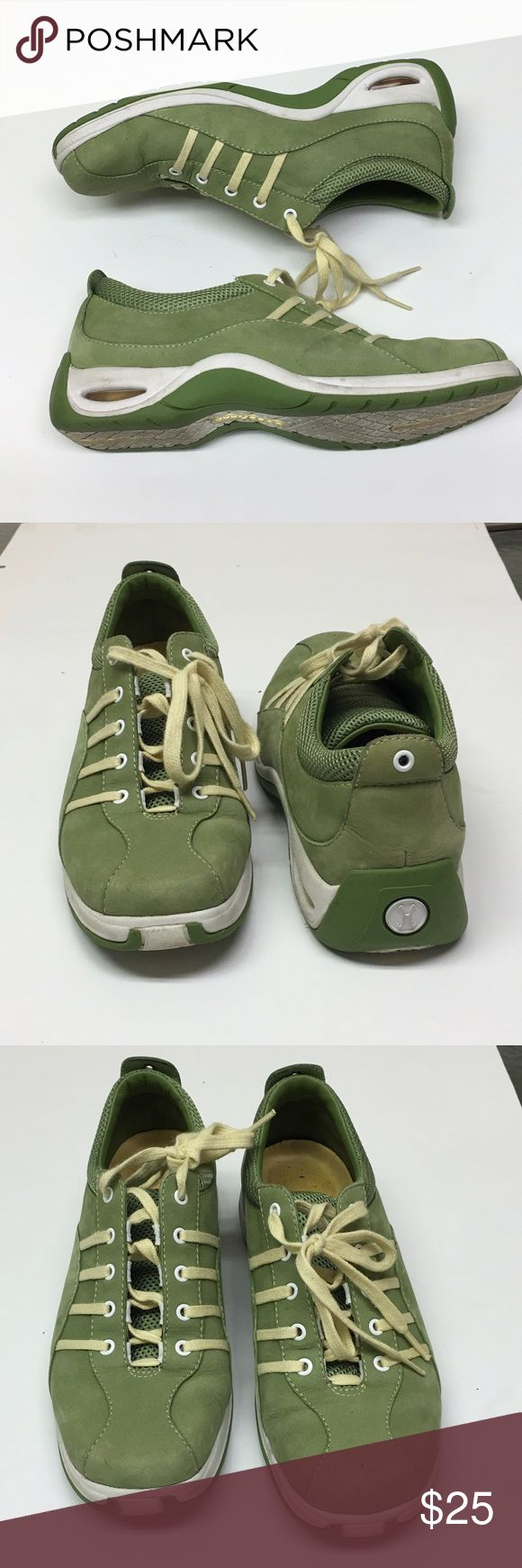 Women's 6B Cole Haan  Green leather sneakers. Sz 6 Women's 6B Cole Haan Air Tali Bris Tan Green Leather Sneakers. Pre-owned. But in perfect condition. Size 6. Cole Haan Shoes Sneakers