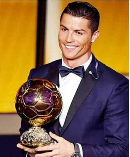 Congrats babe!!! Cristiano Ronaldo winner of Ballon D'Or 2014