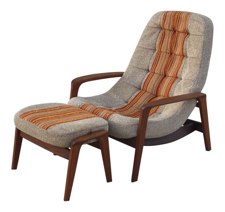 REFINISHED Iconic MCM Solid Teak Lounge Chair & Ottoman