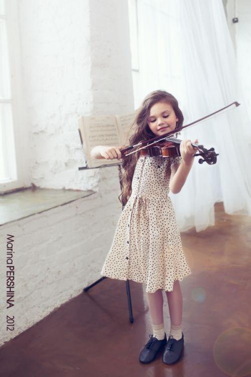 Beautiful kids little girls and violin on pinterest