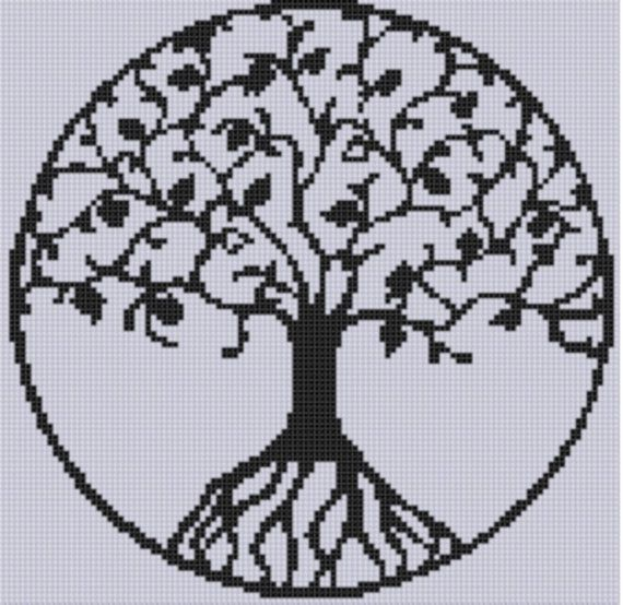 Tree of Life Cross Stitch Pattern by MotherBeeDesigns on Etsy