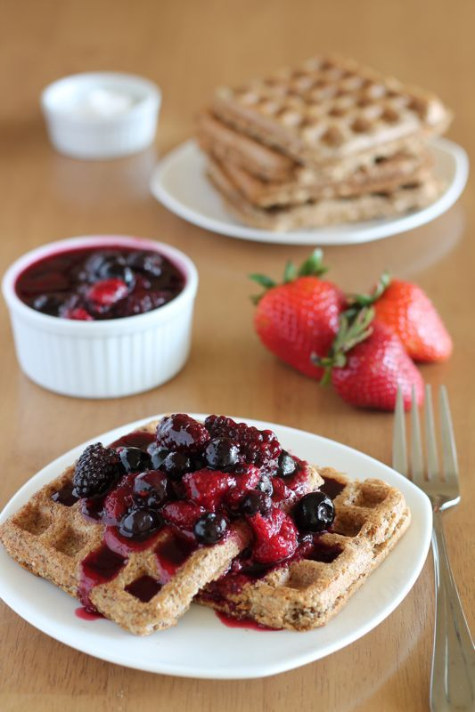 Super Healthy Power Waffles with Oats and Flaxseed - and No Butter!
