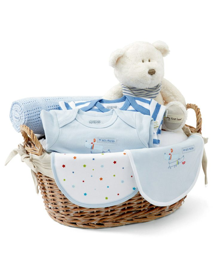 Baby Gift Baskets Mamas And Papas : Newborn hamper blue boys mamas papas gift