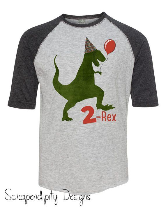 Second Birthday Shirt 2nd Tshirt Dinosaur Party Two Rex Outfit T Boys Toddler 2 Tee Cake