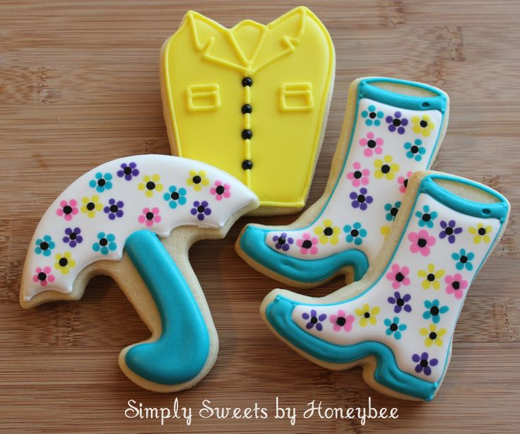 Simply Sweets by Honeybee: April Showers Bring May Flowers (the coat is made from a present cutter)