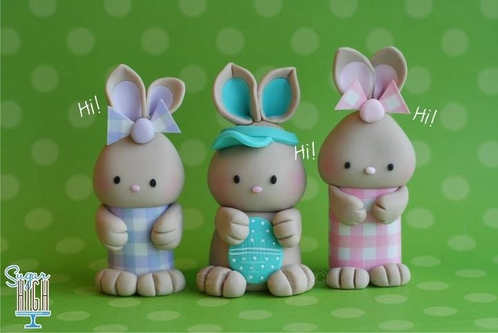 Three little bunnies #cake topper
