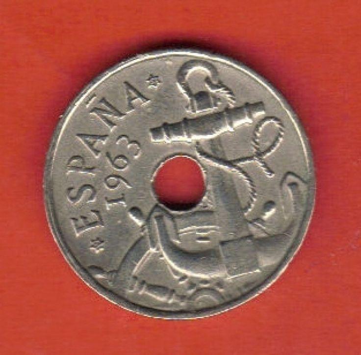 moneda de 50 céntimos peseta