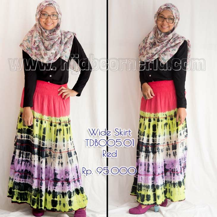 Colorfull Wide skirt by hijabcornerid