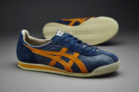 Mens Shoes - Onitsuka Tiger Tiger Corsair Vin - Navy / Tan - DL300-1271