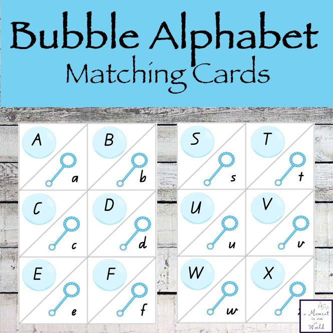 These cute Bubble Alphabet Matching Cards are a great way for kids to learn the uppercase and lowercase letters of the alphabet.