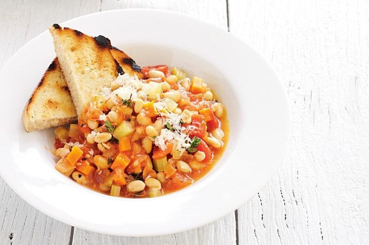 This warming soybean and vegetable ragu is an extremely comforting lunch or dinner meal that gets better over time.