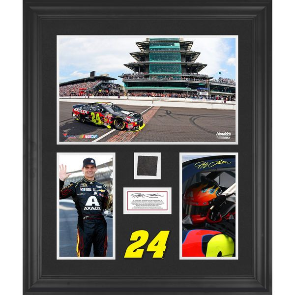 Jeff Gordon Fanatics Authentic Framed 2014 Brickyard 400 at Indianapolis Motor Speedway Race Winner 3-Photograph Collage with Race-Used Tire-Limited Edition of 500 - $129.99