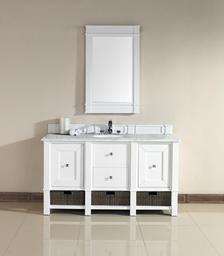 Photo Gallery For Website Madison Single Sink Bathroom Vanity Cabinet Cottage White Finish Carrara White Marble