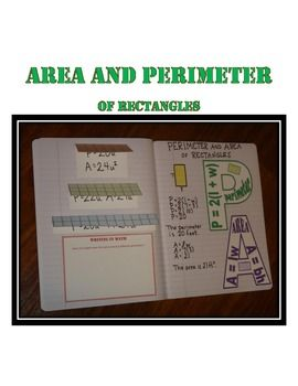 Perimeter and Area Activity for Interactive Notebook. Course it would be better to have the perimeter formula outside