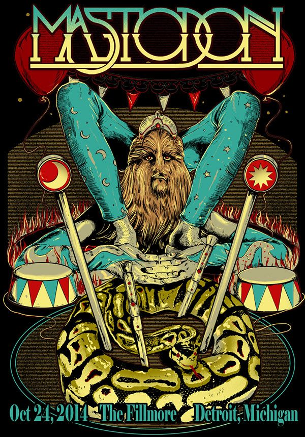 Rafal Wechterowicz MASTODON POSTERS on Behance