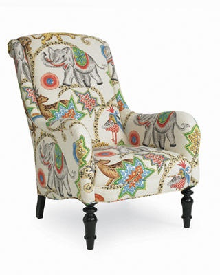 Vibrant Circus Print Upholstery Enlivens The Traditional Silhouette Of The  Charming Easton Chair. Add