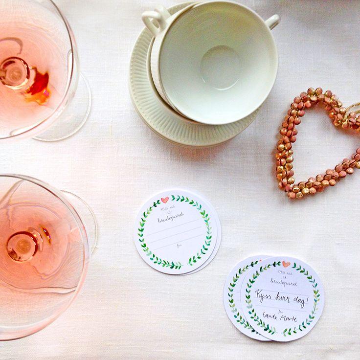 ELM DESIGNKOLLEKTIV  // Gode råd kort til brudeparet - legg ut på bordene og få gjestene til å skrive hver sitt gode råd for et langt og lykkelig ekteskap :)