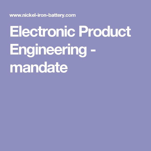 Electronic Product Engineering - mandate