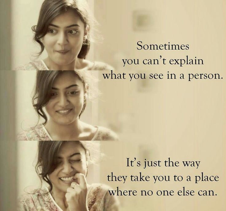 Sometimes, you can't explain what you see in a person. its just the way they take you to a place where no one else can.