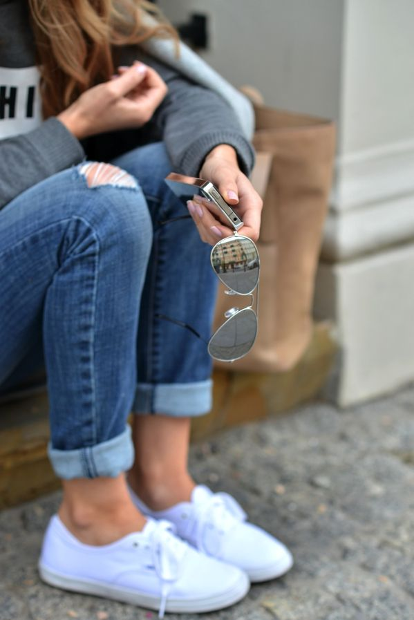 Keds Cuffed Pants On The Go Fashion Pinterest Pants White Vans And The Go