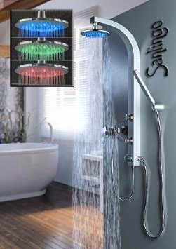 LED SHOWER COLUMN SHOWER PANEEL MASSAGE JETS SANLINGO: Amazon.co.uk: Kitchen & Home