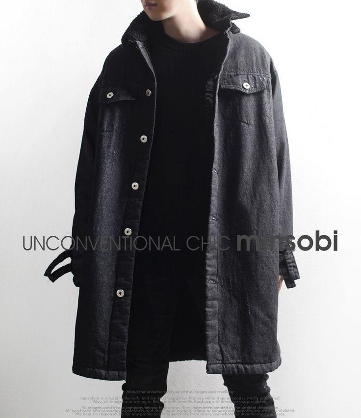 #coat #denim #cappotto #manteau #mens #fashion #mode #herrenmode #highfashionmen #moda #uomo #hommes #modauomo #minsobi #ミンソビ #japan #japanfashion #style #vogue #uomini #ファッション #youngfashion #darkstreetwear #streetwear #urban #wintercoat #wintermantel #mantel #visualkei #avantgarde
