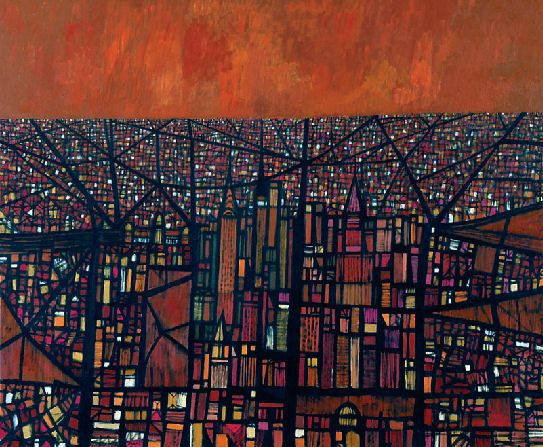 'The City' by Michael Shannon, 1961. Oil on canvas. Art Gallery of Western Australia.