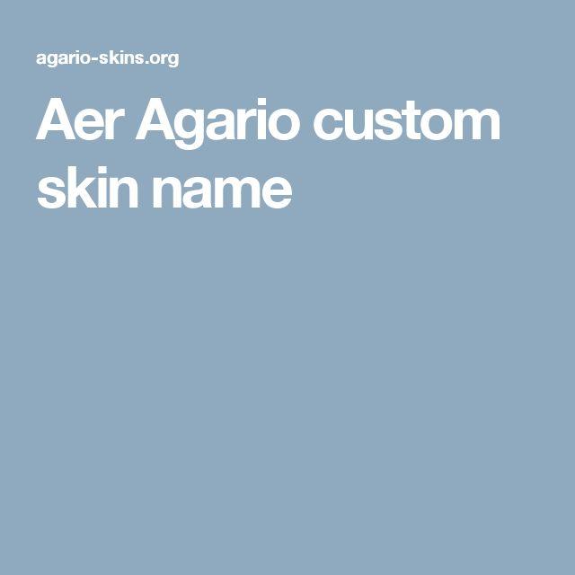 Aer Agario custom skin name