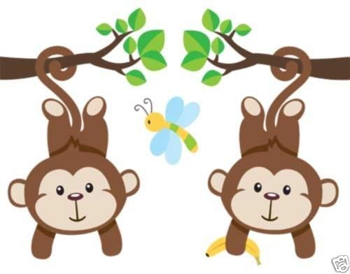Jungle Monkey Wallpaper Border Decals for Baby Boy Nursery or Kids Room Wall Decor #decampstudios