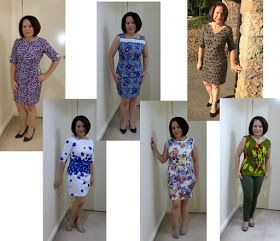 This basic sheath dress  ( New Look 6000 ) has been so easy to repeat, hence a top using African wax fabric.    Same pattern , different loo...