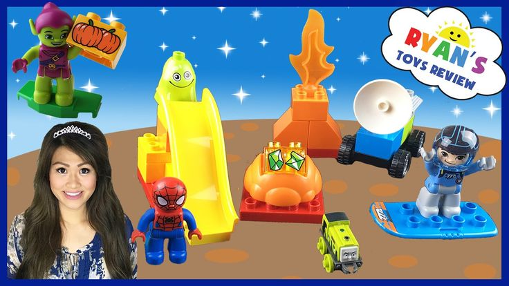 awesome Lego Duplo Milles from Tomorrowland Disney Junior Marvel Spiderman Egg Surprise Toys Thomas Train